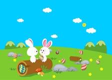 Wielkanocnego królika jajka Zdjęcia Royalty Free