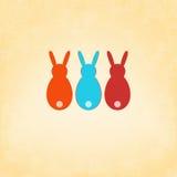 Wielkanocnego królika karty szablonu projekt. + EPS8 Obrazy Royalty Free