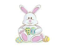 Wielkanocnego królika kreskówka Obrazy Royalty Free