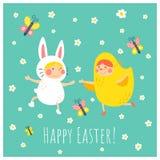Wielkanocnego królika kurczak Zdjęcia Stock