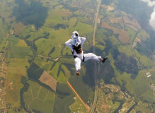 Wielkanocnego królika skydiver relaksuje Zdjęcia Stock