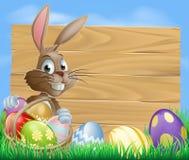 Wielkanocnego królika tła znak Zdjęcie Royalty Free