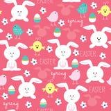 Wielkanocnego królika wiosny wzoru wektor Fotografia Royalty Free