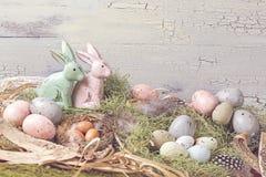 Wielkanocnego pastelu barwiona dekoracja Zdjęcia Stock
