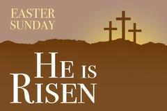 Wielkanocnej Niedziela świętego tygodnia wschodu słońca karta Zdjęcie Royalty Free