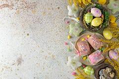 Wielkanocni cukierki i dekoracje Obraz Stock
