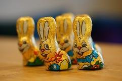Wielkanocni czekoladowi króliki Zdjęcie Royalty Free