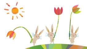Wielkanocni dekoracyjni elementy w trójgraniastym stylu Obraz Royalty Free