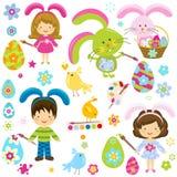 Wielkanocni dzieci royalty ilustracja