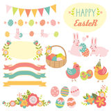 Wielkanocni elementy Fotografia Stock