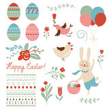 Wielkanocni graficzni elementy royalty ilustracja