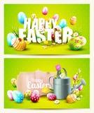 Wielkanocni horyzontalni chodnikowowie Zdjęcia Stock