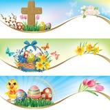 Wielkanocni horyzontalni sztandary Fotografia Stock
