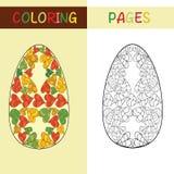 Wielkanocni jajka dla kolorystyki książki dla dorosłego i dzieci Fotografia Stock