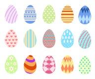 Wielkanocni jajka dla Wielkanocnego wakacje projekta na białym tle Płaska projekta stylu ilustracja Fotografia Stock
