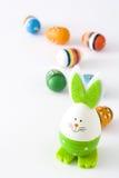 Wielkanocni jajka i królika kształt, odosobniony Zdjęcie Royalty Free