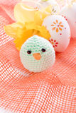 Wielkanocni jajka i kurczątko Fotografia Stock