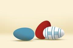 Wielkanocni jajka ilustracyjni Zdjęcie Stock