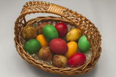 Wielkanocni jajka koszykowi Zdjęcia Stock
