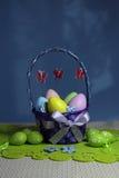 Wielkanocni jajka koszykowi Zdjęcie Stock