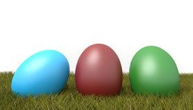 Wielkanocni jajka na gras ilustracja wektor