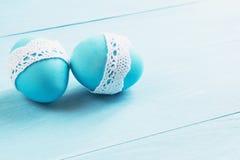 Wielkanocni jajka na stole Fotografia Stock