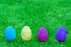 Wielkanocni jajka na trawie Obraz Royalty Free