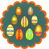 Malujący jajka dla wielkanocy Zdjęcie Royalty Free