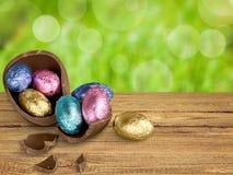 Wielkanocni jajka odizolowywający na tle Obrazy Royalty Free
