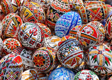 Wielkanocni jajka, Rumunia fotografia royalty free