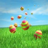 Wielkanocni jajka spadają Zdjęcia Royalty Free