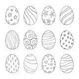 Wielkanocni jajka ustawiający z wzorem również zwrócić corel ilustracji wektora ilustracji
