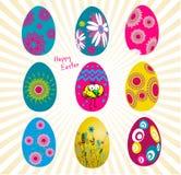 Wielkanocni jajka ustawiający Ilustracji