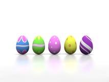 Wielkanocni jajka w białym środowisku ilustracji