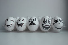 Wielkanocni jajka w biel grupie Obraz Royalty Free