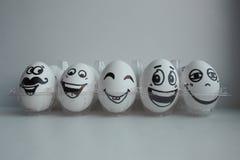 Wielkanocni jajka w biel grupie Obrazy Stock
