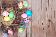 Wielkanocni jajka w gniazdeczku Fotografia Stock