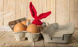 Wielkanocni jajka w pakunku Fotografia Stock