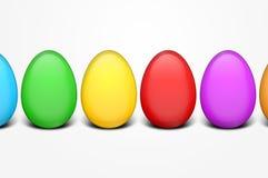 Kolorowi Easter jajka royalty ilustracja