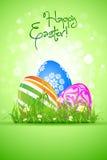 Wielkanocni jajka w trawie ilustracji