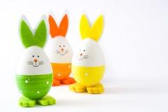 Wielkanocni jajka z królika kształtem, odosobnionym Obraz Royalty Free