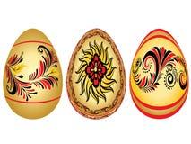 Wielkanocni jajka z Ludowymi wzorami ilustracji
