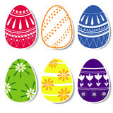 Wielkanocni jajka z opuszczającym cieniem Obraz Royalty Free