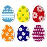 Wielkanocni jajka z opuszczającym cieniem Zdjęcia Stock