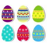 Wielkanocni jajka z opuszczającym cieniem Zdjęcie Stock