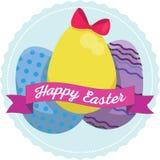 Wielkanocni jajka z projektami i faborkami Zdjęcie Royalty Free