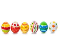 Wielkanocni kolorów jajka fotografia stock