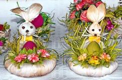 Wielkanocni króliki Obrazy Royalty Free