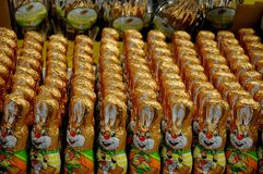 Wielkanocni króliki i Wielkanocni jajka Fotografia Royalty Free