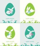 Wielkanocni króliki i Wielkanocni jajka Zdjęcia Royalty Free